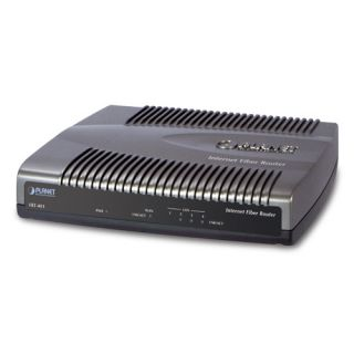 Internet Fiber Router (SC, SM) with 4-Port Switch - 15km - FRT-401S15 - Planet