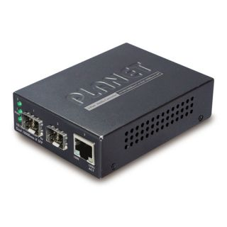 10/100/1000Base-T to Dual 1000Base-X SFP Media Converter - GT-1205A - Planet