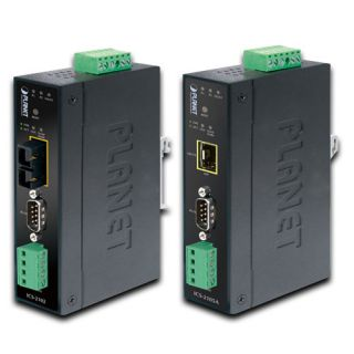 Industrial RS-232/RS-422/RS-485 over 100Base-FX Media Converter (Fiber, Vary on SFP module) - ICS-2105A - Planet