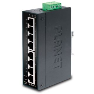 8-Port 10/100/1000T Industrial Gigabit Ethernet Switch Wide Operating Temperature - IGS-801T - Planet