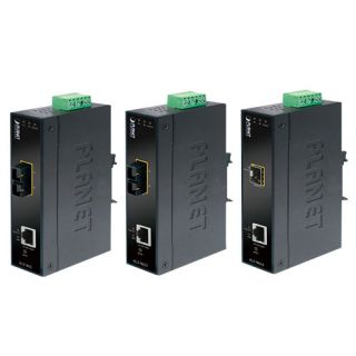Industrial Managed Gigabit Ethernet Media Converter with Wide Operating Temperature (-30~75 degrees C) - IGT-905A - Planet