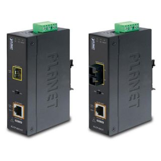 1000BASE-SX to 10/100/1000BASE-T 802.3at PoE Industrial Media Converter - IGTP-802T - Planet