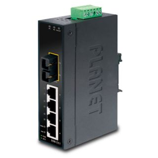 4-Port 10/100Base-TX + 1-Port 100Base-FX Industrial Fast Ethernet Switch - ISW-511 - Planet