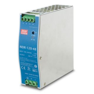120W 48V DC Single Output Industrial DIN Rail Power Supply fit Mean Well DR-120-48 - PWR-120-48 - Planet