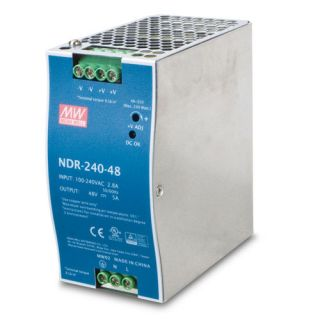 240W 48V DC Single Output Industrial DIN Rail Power Supply - PWR-240-48 - Planet