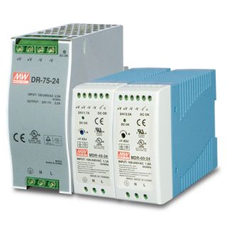 40W 24V DC Single Output Industrial DIN Rail Power Supply - PWR-40-24 - Planet