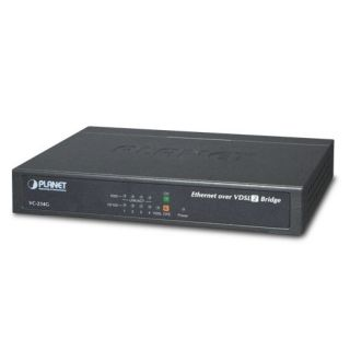 4-Port 10/100/1000T Ethernet to VDSL2 Bridge - 30a profile w/ G.vectoring, RJ11 - VC-234G - Planet