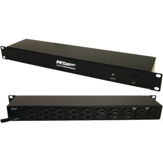 10 Outlet Distribution Rack Strip, 1RU, 6FT Cord - D10-PFP - Panamax