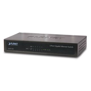 5-Port 10/100/1000Mbps Gigabit Ethernet Desktop Switch - GSD-503 - Planet