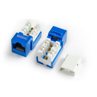 Category 5e Keystone Jack RJ45, 110 IDC - KJNE-8P8C-C5E-90-XX - Hyperline