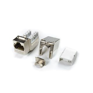 Category 5e Keystone Jack RJ45, 110 IDC - KJNE-8P8C-C5E-90-SH-F - Hyperline