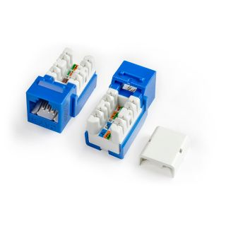 Category 6 Keystone Jack RJ45, 110 IDC, Colours - KJNE-8P8C-C6-90-XX - Hyperline