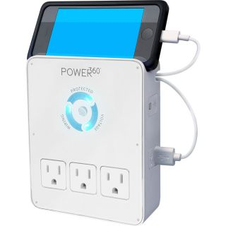 Power360 6 Outlet Wall Tap/Charging Station - P360-DOCK - Panamax