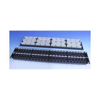 19″ Category 5e Patch Panel, 48 ports RJ-45 - PP3-19-48-8P8C-C5E-110 - Hyperline