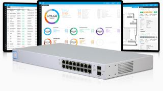 UniFi Switch 16 150W - Managed PoE+ Gigabit Switch with SFP - US-16-150W - UBIQUITI