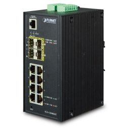 Industrial 8-Port 10/100/1000T + 4-Port 100/1000X SFP Managed Switch -  IGS-12040MT - Planet